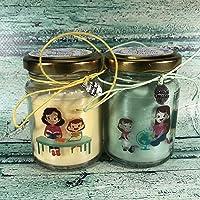 Regalo assistente scolastico, logopedista, educatrice 2 candele di cera in soia e oli essenziali Fine anno scolastico…