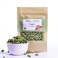 Seeds and Hands Wayanad Cardamom Whole - Certified for Low Pesticide (100g)