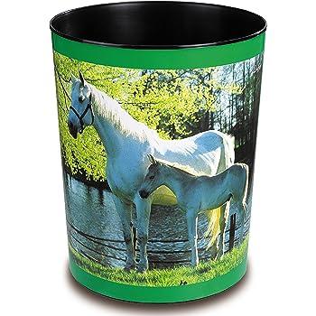 Läufer 26658 Papierkorb mit Motiv Pferd und Fohlen am See