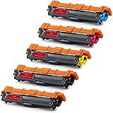 JOTO TN241 TN245 Compatible Toner Cartridges TN-241 TN-245 for Brother DCP-9020CDW, HL-3140CW, HL-3150CDW, DCP-9015CDW, HL-3170CDW, MFC-9330CDW, HL-3152CDW (2 Black, 1 Cyan, 1 Magenta, 1 Yellow)