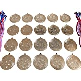 Trophy-Point 20 Football Medals - Gold 50mm Metal With Ribbons