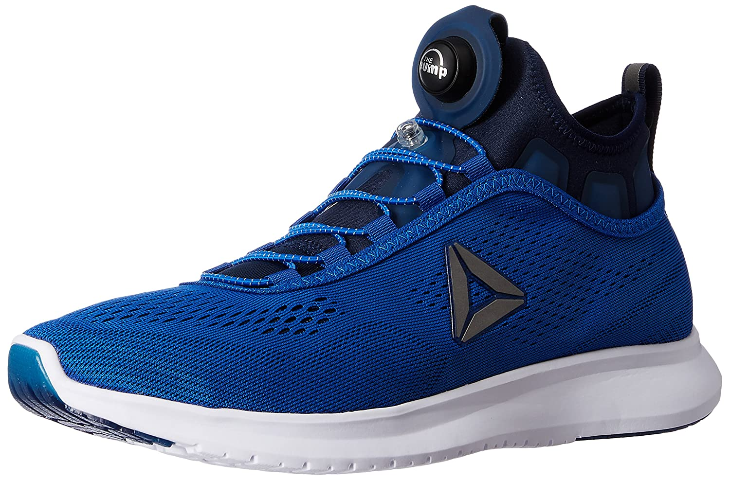 reebok running shoes blue. reebok men\u0027s pump plus tech awesome blue, navy and white running shoes - 8 uk/india (42 eu) (9 us): buy online at low prices in india amazon.in blue