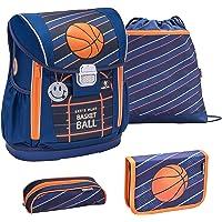 Belmil 404-20 Schulranzen Set 4 - teilig ergonomischer Schulranzen Größen verstellbar Jungen 1. klasse 2. klasse 3…