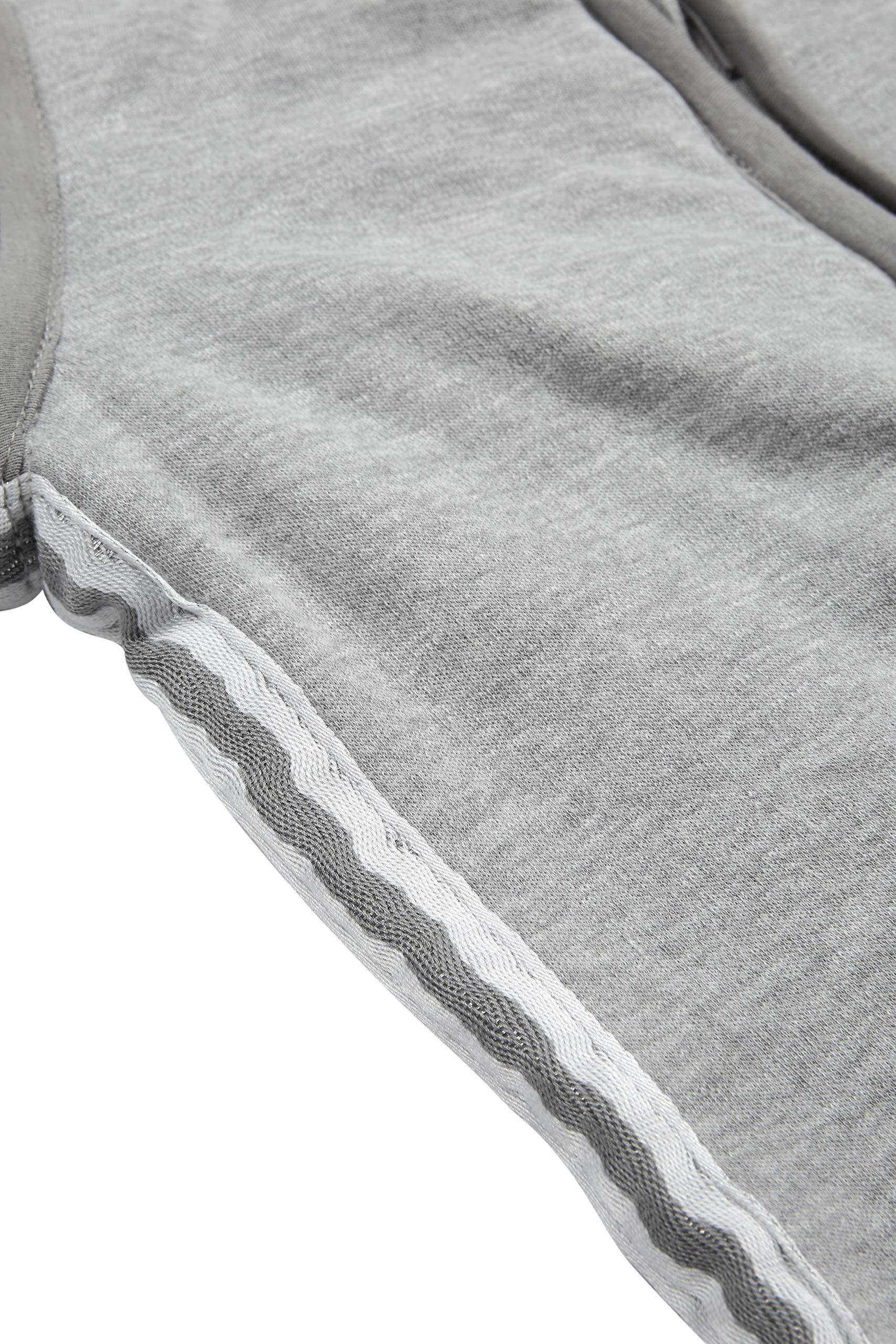 Meyco 514025Saco de dormir de invierno 90cm, Gris con Lurex ribete gris