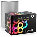 FRAMAR Star Struck Silver Embossed Roll Stagnola Medium 100,6mt