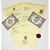 planetsforsale Harry Potter Style Personalised Acceptance Letter Gift Pack with Hogwarts Express Ticket, Knight Bus Ticket An