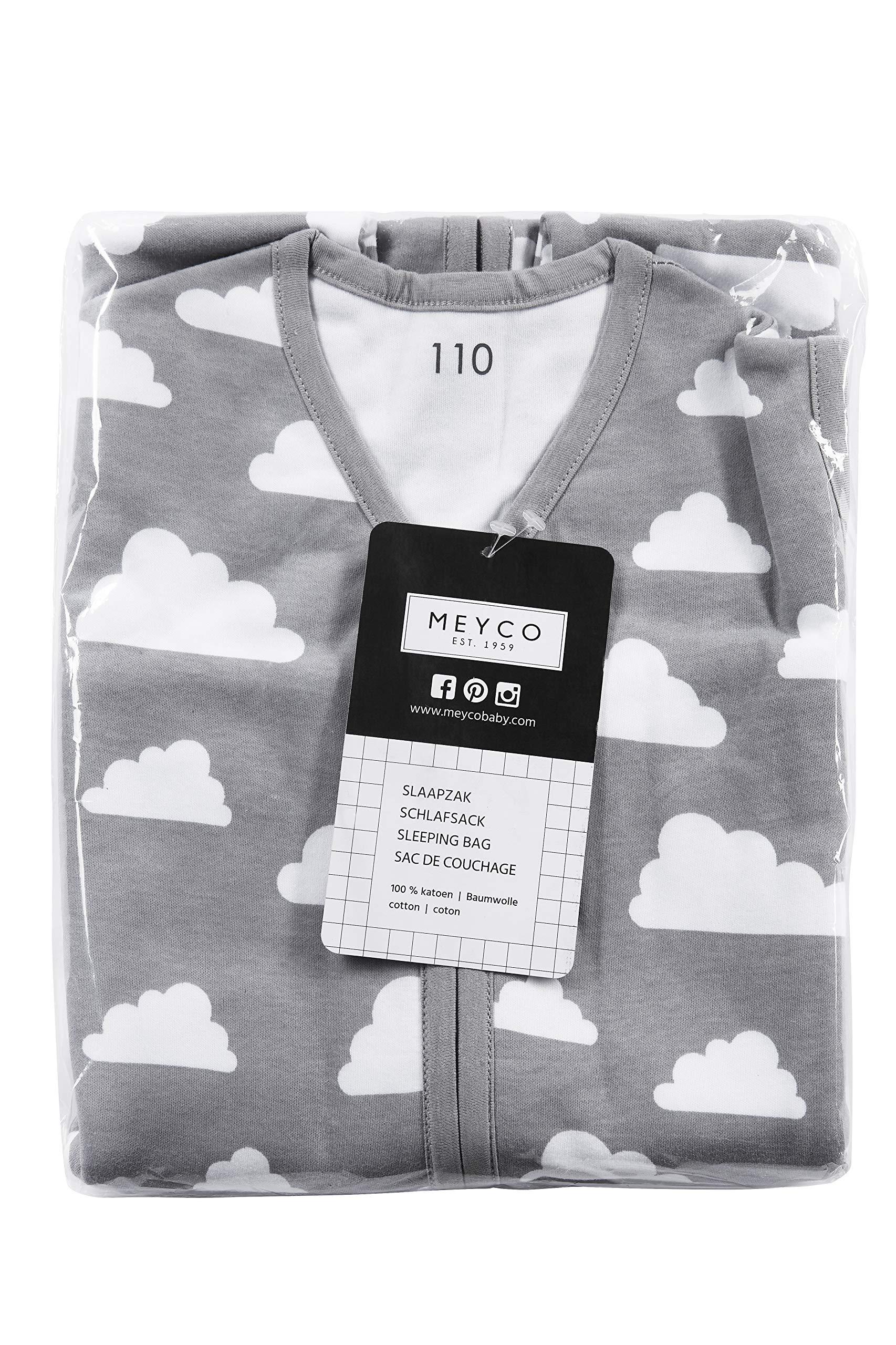 Meyco 512095Verano Saco de dormir 110cm, nubes gris