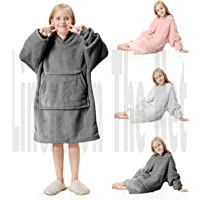 rejuvopdeic Deluxe Range Of Child Kids Hoodie Charcoal Blankets, Velvet Touch Fabric With Ultra Soft Sherpa Fleece…