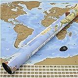Perfect Travel Map - wunderschöne XXL Rubbel-Weltkarte, Weltenbummler, Globetrotter, Urlauber, Backpacker oder Sprachschüler (Poster: 83,6 x 60,5cm)