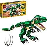 LEGO31058CreatorMachtigeSpeelgoeddinosaurussen,3-in-1model met T-Rex, TriceratopsenPterodactylusDinosaurusFiguren