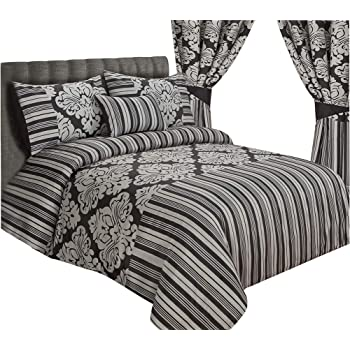 ecbfac56dd LUXURY ONYX BEDDING DUVET COVER / BED SET WITH PILLOWCASES AND CUSHION COVER  , FAUX SILK