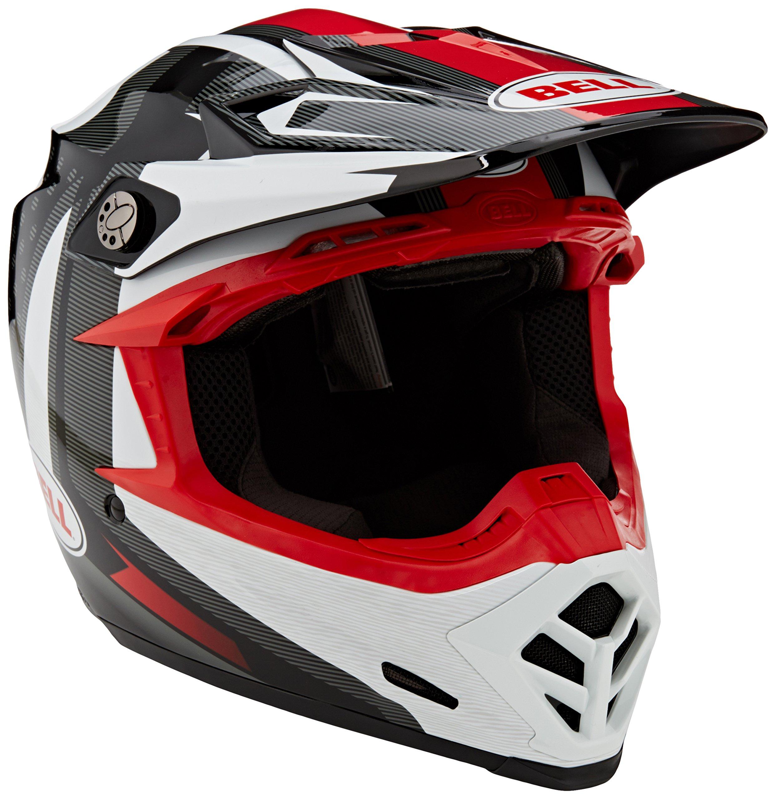 Bell caschi MX 2017moto-9Flex morsa da adulto casco, nero/bianco, taglia M