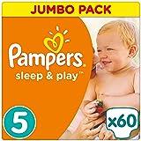Pampers Sleep & Play Windeln, Gr. 5 (11-23 kg), Jumbo Pack, Einfach trocken, 1er Pack (1 x 60 Stück)