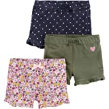 Simple Joys by Carter's 3-Pack Knit Shorts Bimba 0-24, Pacco da 3
