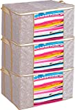 Porchex Underbed Storage Bag, Storage Organiser, Non Woven Big Underbed Storage/Bag with Window Blanket Cover Set of 3…