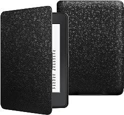 JETech Hülle für Amazon Kindle Paperwhite (Passt alle Paperwhite Generationen), Schutzhülle Tasche mit Auto Einschlafen/Aufwachen, Schwarz
