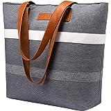 Sucipi Strandtasche Damen,Einkaufstasche Kühltasche Große(42 x 41 x 18 cm) mit Reißverschluss und Kühlfach für Lebensmitteltr