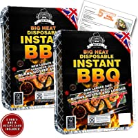 Big M's 2 x Big Heat Instant Disposable Barbecues with 5 BBQ Recipes Card