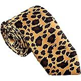 Men's Fashion Leopard Print Tie for Weddings Parties Costumes Halloween