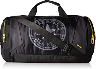 Gear Polyester 44 cms Black and Yellow Travel Duffel (METDFPRO20112)