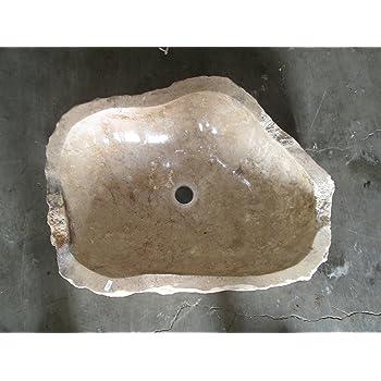 N487 53x46 h18 Lavandino in pietra di marmo indonesiano per bagno ...
