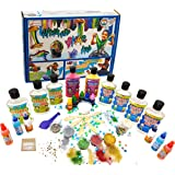 StepsToDo Ultimate Slime Lab. All in One. Make 20+ Slime. Milky, Unicorn Rainbow, Swirl, Crunchy, Foamy, Clear, Galaxy, Merma