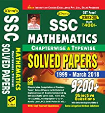 KIRAN'S SSC MATHEMATICS CHAPTERWISE & TYPEWISE SOLVED PAPERS 1999 MARCH 2018 ENGLISH