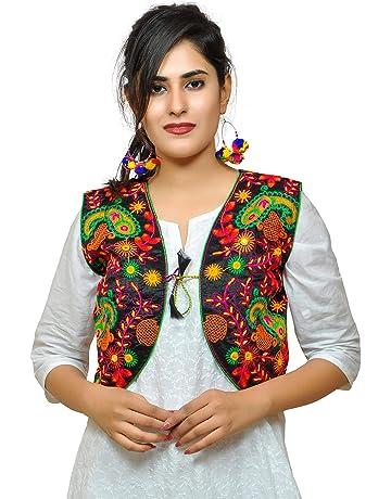ded383a17 Banjara India Women's Embroidered Ethnic Kutch Work Shrug  (S_KJK01_Black_Free Size)