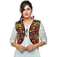 Banjara India Women's Embroidered Ethnic Kutch Work (KJK01_s_Black_Free Size)
