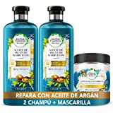 Herbal Essences Aceite De Argán De Marruecos, Pack Reparación 2 Champús 400ml + Mascarilla 250ml, Ph neutro e Ingredientes Na