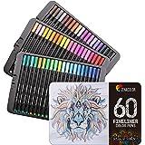 60 Feutres Coloriage Pointe Fine Zenacolor - 60 Couleurs Uniques - Stylo Feutre Coloriage 0.4mm - Idéal pour Mandala adulte,