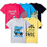 ESNINO Boys' T-Shirt (Pack of 5)