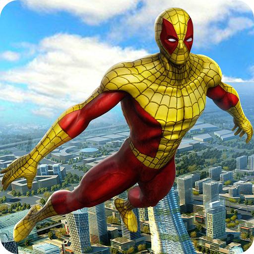 Super Hero Flying Spider Revenge Fighting Simulator 3D: Vegas Crime City Giochi di missione avventura gangster gratuiti per bambini 2018