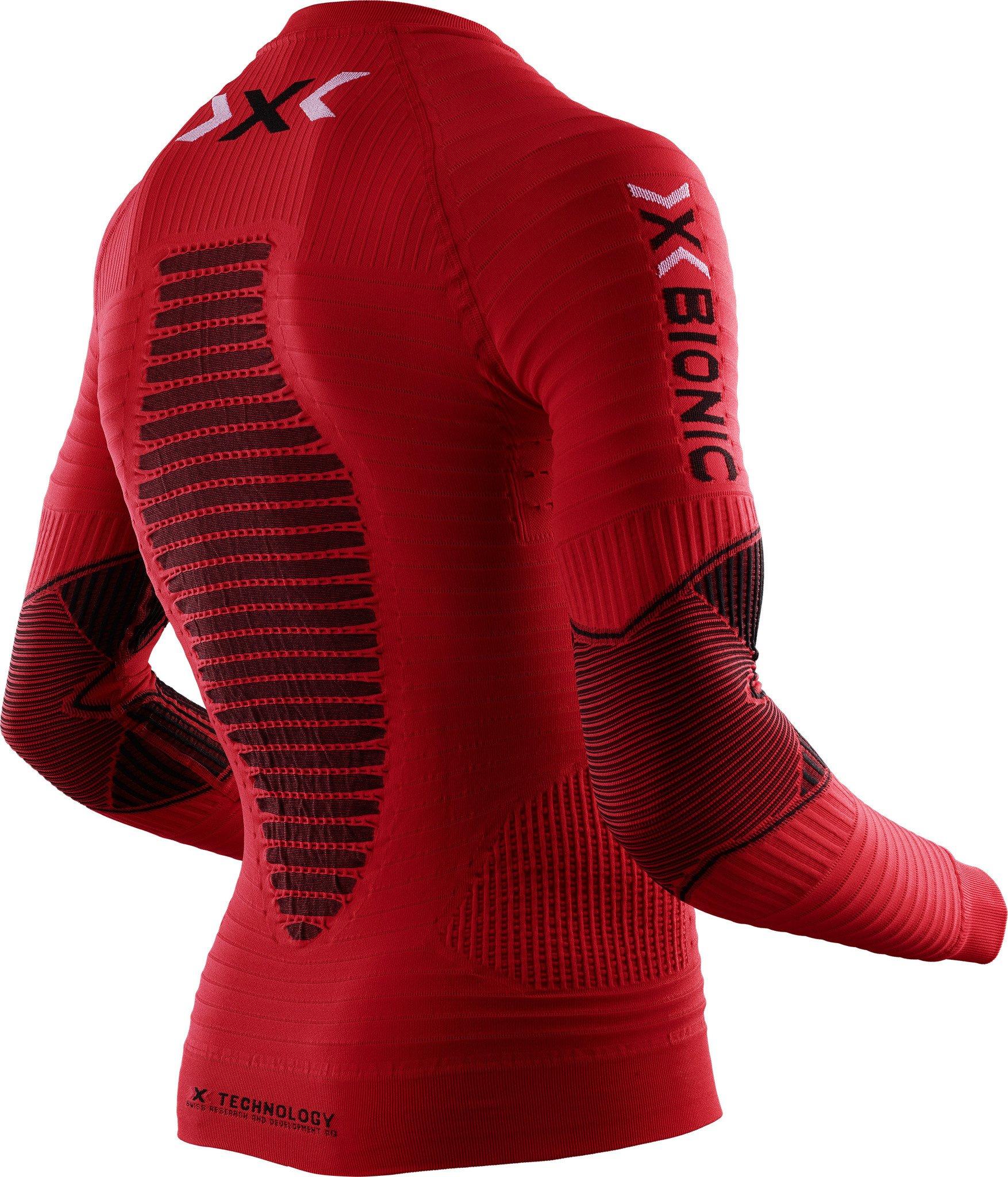 L Trerè Innovation O020570 Maglia Uomo X-Bionic Running Effektor Power Ow Lg_ Sl Rosso/Nero
