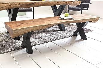 FineBuy Esszimmerbank Akazie Landhaus Stil Voll Holz 170 X 46 X 46 Cm |