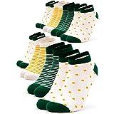 Occulto 8 pares de Calcetines para Mujer | Calcetines para Zapatos de Verano para Mujer | Calcetines cortos de Algodón para M