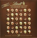 Lindt Mini Pralinés Schicht-Nougat 165g, harmonisch abgestimmte Auswahl von Mandel-, Haselnuss- und Pistazien-Nougat, glutenfrei, 1er Pack