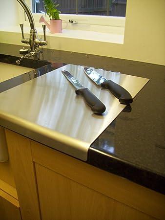 arbeitsplatten-schutz / abdeckung aus edelstahl, runde kanten, 500 ... - Edelstahl Arbeitsplatte Küche