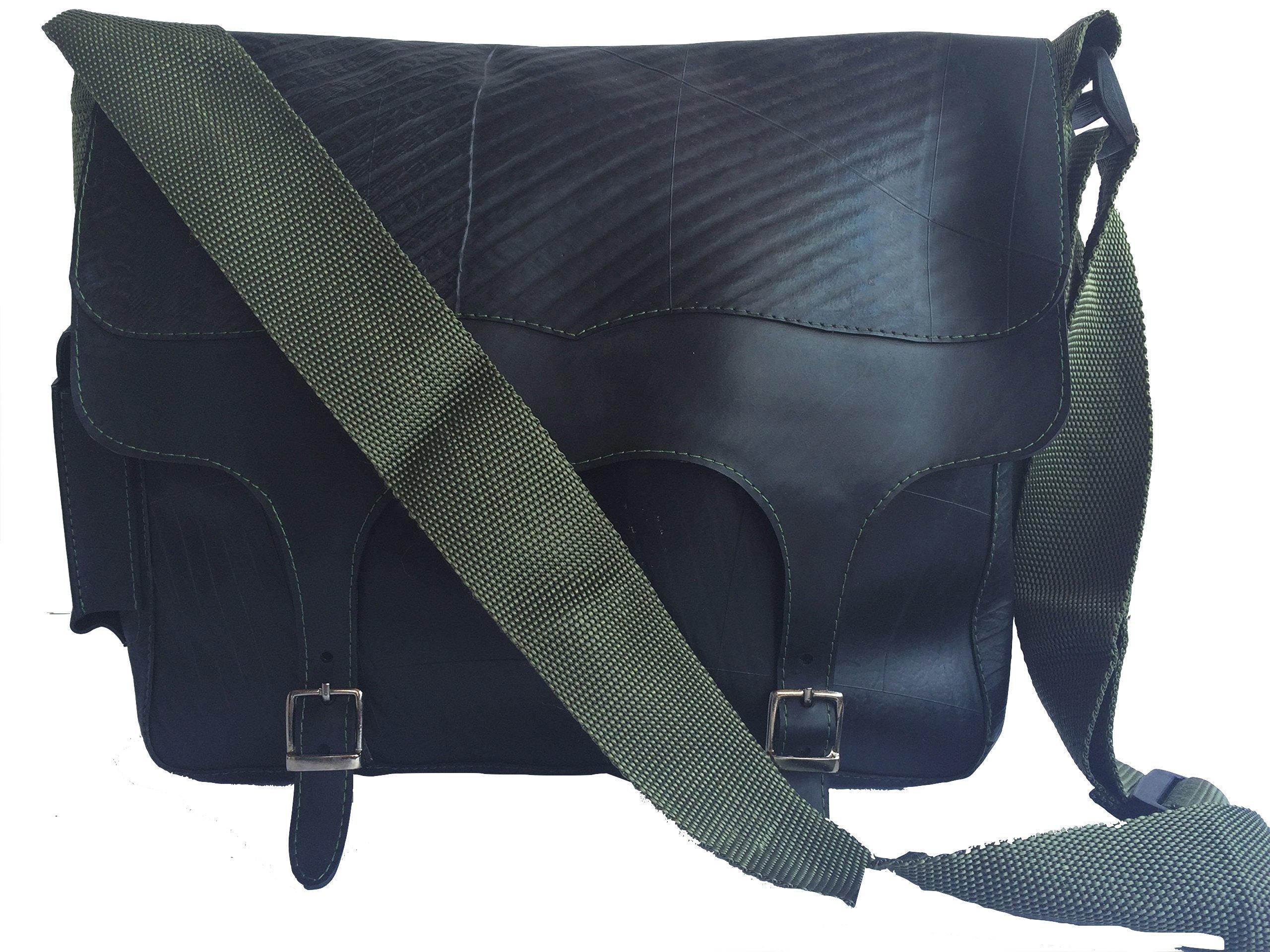 Recycled Rubber shoulder bag Memo - handmade-bags