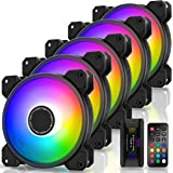 EZDIY-FAB Ventilateur de Boîtier D'ordinateur 120mm,Ventilateur Aura Sync de Carte Mère,Vitesse Réglable,Ventilateur RGB Adre