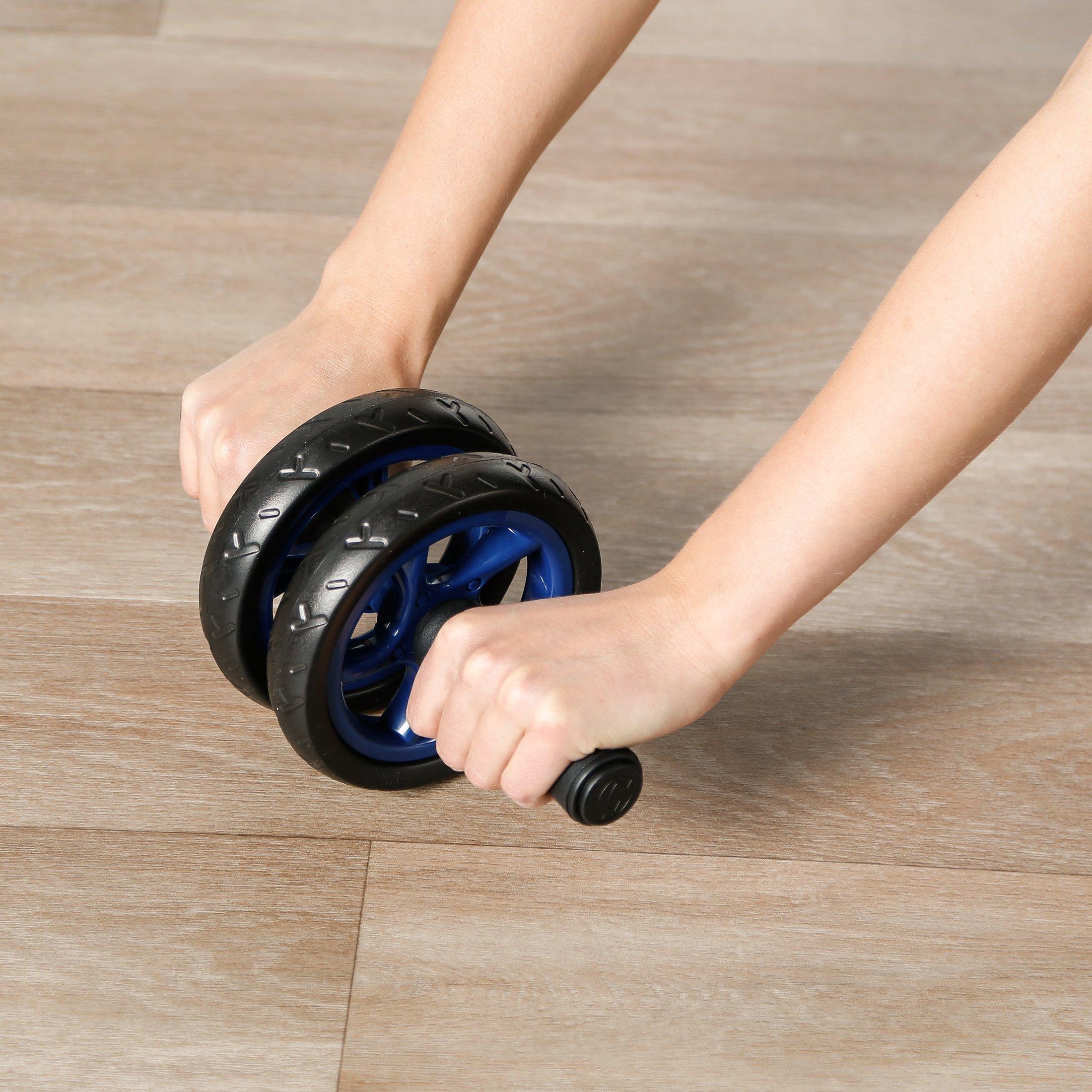 zum Trainieren von Bauchmuskeln Ultrasport Bauchtrainer AB Wheel gr/ün Kniematte R/ücken /& Schultern Bauchmuskeltrainer f/ür Zuhause Oberk/örper-Roller inkl platzsparendes Sportger/ät