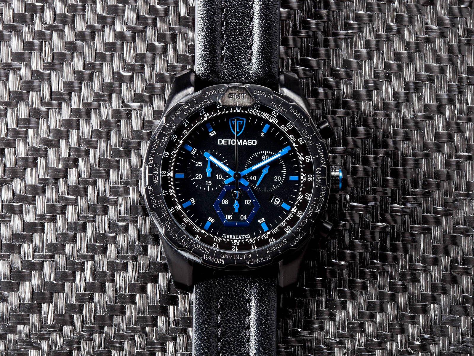 DeTomaso Airebreaker – Reloj de Cuarzo para Hombres, con Correa de
