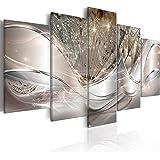 murando Impression sur Toile intissee Abstrait Fleurs 200x100 cm 5 Parties Tableau Tableaux Decoration Murale Photo Image Art