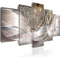 murando Impression sur Toile intissee Abstrait Fleurs 100x50 cm 5 Parties Tableau Tableaux Decoration Murale Photo Image…