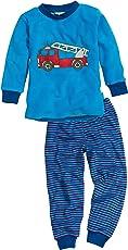 Playshoes Jungen Zweiteiliger Schlafanzug Frottee Feuerwehr
