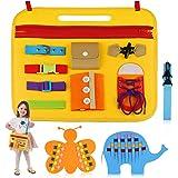 aovowog Tablero Montessori para Niños,Busy Board Juguetes Montessori 1 2 3 4 años,Juguetes Educativos de Aprendizaje Juguetes