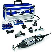 Dremel 4000-6/128 Edition Platinium Outil rotatif multi-usage (175W) 1 coffret alu 6 adaptations et 128 accessoires EZ SpeedClic inclus