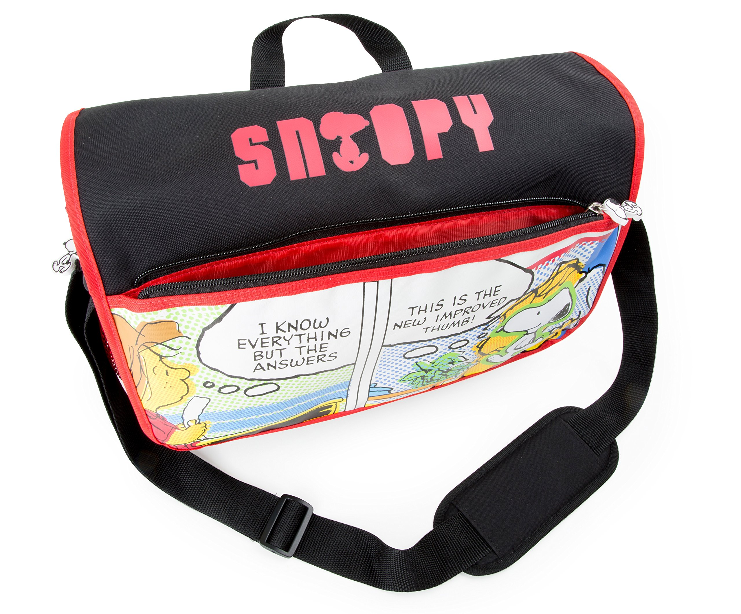 Bolso de hombro Snoopy mochila escolar y para niños mochila mochila escolar | incluye dos bolsillos de malla a los lados y mucho espacio de almacenamiento | acolchado óptimo de las correas de transpo