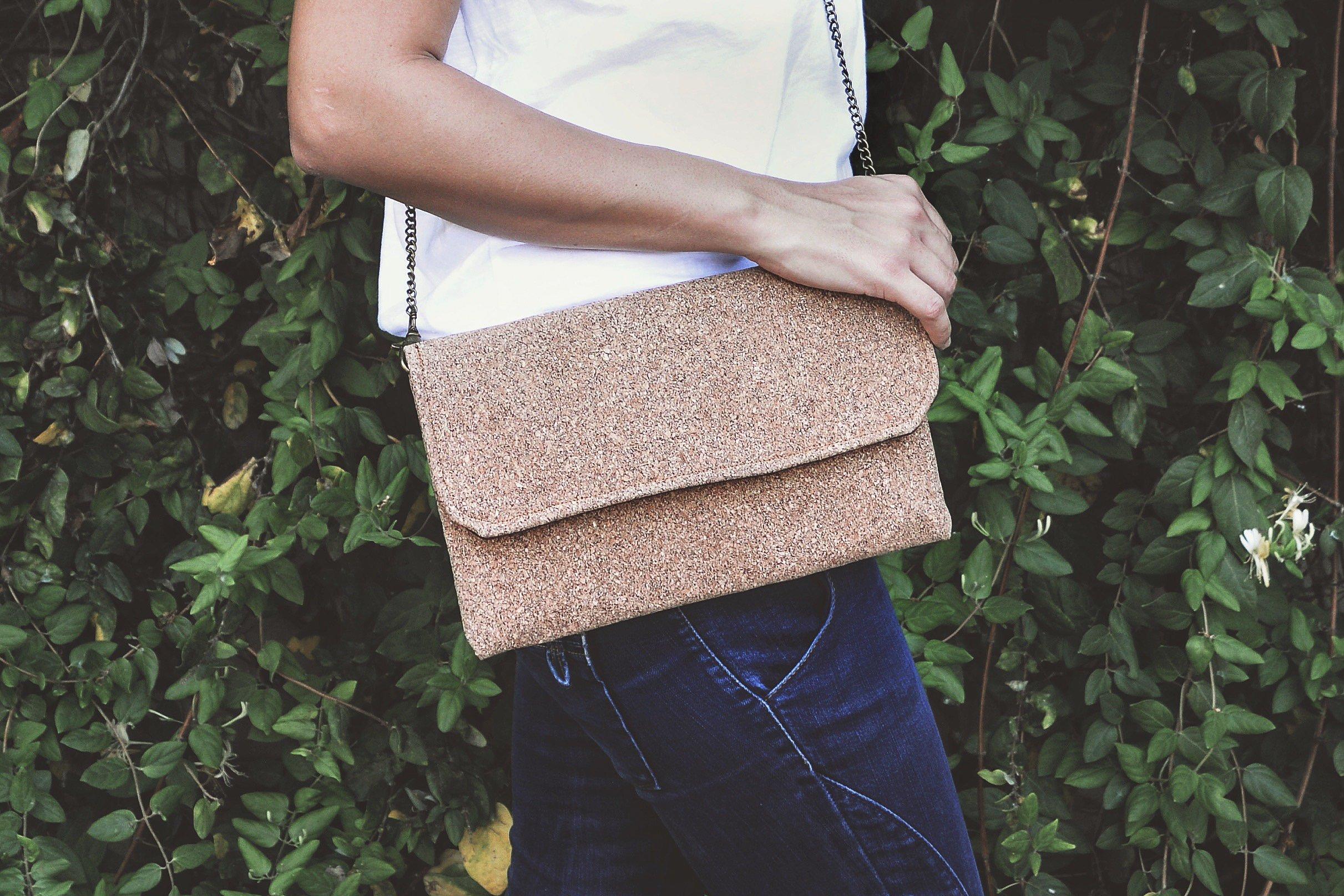 Cork bag. Vegan fashion - handmade-bags