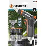 """GARDENA Premium basisset: Aansluitset met reinigingspistool, met aansluitstukken voor 13 mm (1/2"""")- en 15 mm (5/8"""")-slangen ("""